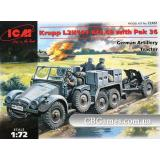 ICM72461  Krupp L2H143 Kfz.69 German tractor with PaK-36 gun