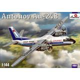 Пассажирский авиалайнер Антонов Ан-24Б (AMO1464) Масштаб:  1:144