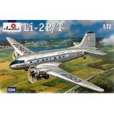 Пассажирский самолет Лисунов Ли-2П/Т (AMO72244) Масштаб:  1:72