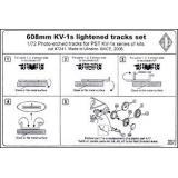 PE7241 KV-1s 608mm lightened tracks set. cat#7241 (PE7241) Масштаб:  1:72