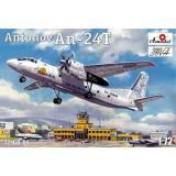 Самолет Антонов Ан-24T Phoenix Avia (AMO72160-01) Масштаб:  1:72