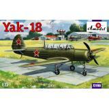 Самолет Яковлев Як-18 M-12 (AMO72198) Масштаб:  1:72