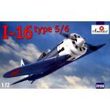 Советский одномоторный поршневой истребитель И-16 тип 5/6 (AMO72123) Масштаб:  1:72