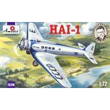 Советский пассажирский самолет ХАИ-1 (AMO72174) Масштаб:  1:72