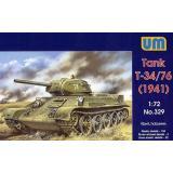 Т-34-76 советский средний танк 1941 года (UM329) Масштаб:  1:72