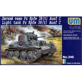 Танк Pz Kpfw 38(t) Ausf.C (UM340) Масштаб:  1:72