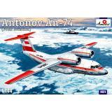 Ближнемагистральный транспортный самолет Ан-74 (AMO1421) Масштаб:  1:144