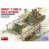 MA35056  Soviet T-70M & ZiS-3 with crew (Танк)