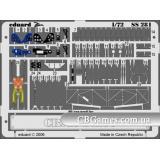 Фототравление 1/72 Фиат CR-42 Фалько (цветная, рекомендовано для Italeri) (EDU-SS281) Масштаб:  1:72