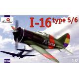 И-16 тип 5/6 Испанский одномоторный поршневой истребитель. (AMO72124) Масштаб:  1:72