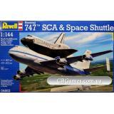 Космический корабль Спейс Шатл и пассажирский самолет Boeing 747 (RV04863) Масштаб:  1:144