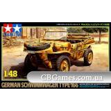 Немецкий плавающий автомобиль Schwimmwagen Type 166 (TAM32506) Масштаб:  1:48