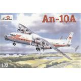 Пассажирский самолёт Ан-10 (AMO72020) Масштаб:  1:72