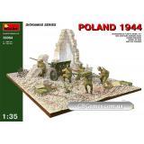 MA36004  Diorama with gun, Poland 1944 (Споруди)