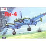 Советский лёгкий разведчик-бомбардировщик Як-4 (AMO7235) Масштаб:  1:72