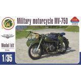 Советский мотоцикл МВ-750 с коляской 1:35