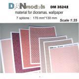 Материал для диорам, обои (7 видов), часть 2 1:35