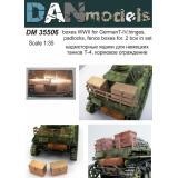 Надмоторные ящики для немецких танков Т-4,петли, навесные замки, кормовое ограждение 1:35