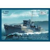 """Эскортный корабль """"HMS Middleton"""", 1943 г. 1:700"""