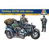 Мотоцикл Zundapp KS750 с коляской 1:35