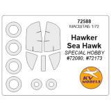 Маска для модели самолета Hawker Sea Hawk (Special Hobby) 1:72