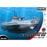 Военный корабль - Подводная лодка типа VII (мультипликационное моделирование)