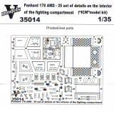 Набор фототравление для Panhard 178 AMD-35 интерьер боевого отделения (ICM) 1:35