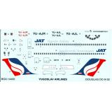 Декаль для самолета Douglas DC-9 Yugoslav Airlines 1:144