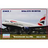 Пассажирский авиалайнер Airbus A318-100, British 1:144