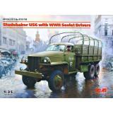 Studebaker US6 с водителями времен Второй мировой войны