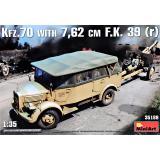 Германский армейский автомобиль Kfz.70 & 7,62 cm F.K. 39 ( r ) 1:35