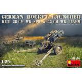 Немецкая ракетная установка с реактивными снарядами 28 см Wk.Spr и 32 см Wk.Flamm 1:35