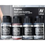 Набор Краска металлик: Двигатель, 4 шт