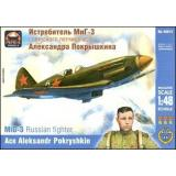 ARK48015 MiG-3 Russian fighter, ace A. Pokryshkin 1:48