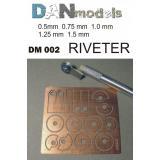Ревитер для имитации клепки (5 дисков с разным шагом «клепки»)