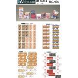 Упаковка (коробка с под сигарет, гуманитарная помощь, от продуктов, ящик от банан) 1:35