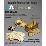 Материал для диорам: набор для изготовления 2 деревянных ящиков 1:35