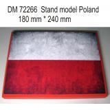 Подставка для моделей авиации. Тема: Польша (240x180 мм) 1:72