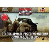 Польская 37-мм противотанковая пушка Бофорс с пехотой (2 шт) 1:72