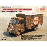 Германский армейский автомобиль Lastkraftwagen 3.5 t AHN c будкой 1:35