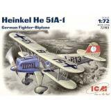 Германский истребитель-биплан Heinkel He-51 A1 1:72