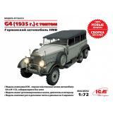 Германский автомобиль G4 с тентом (производства 1935 г.), ІІ МВ 1:72