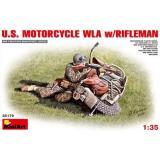 Американский стрелок с мотоциклом 1:35