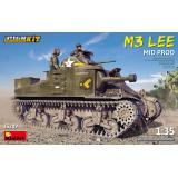 Танк M3 LEE среднего производства с интерьером