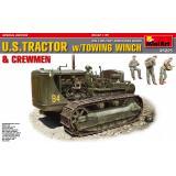 Американский тяжелый трактор с буксирной лебедкой и фигурами экипажа 1:35