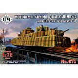 Бронепоезд Красной Армии МБВ-2 с танковыми пушками Л-11 1:72