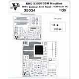 Фототравление: набор деталировки для KHD S3000/SS M Maultier 1:35