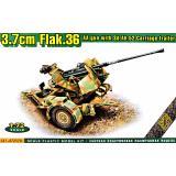 Зенитная пушка FlaK.36 3.7cm на прицепе Sd.Ah.52 1:72