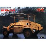 Немецкий бронеавтомобиль радиосвязи Sd.Kfz.261, 2 МВ 1:48