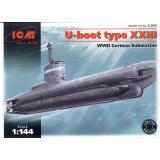 Немецкая подводная лодка типа XXIII 1:144